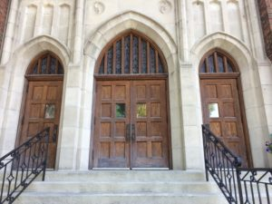 Church Entry Doors Refinished